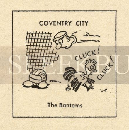 VINTAGE Football Print COVENTRY CITY - THE BANTAMS Funny Cartoon